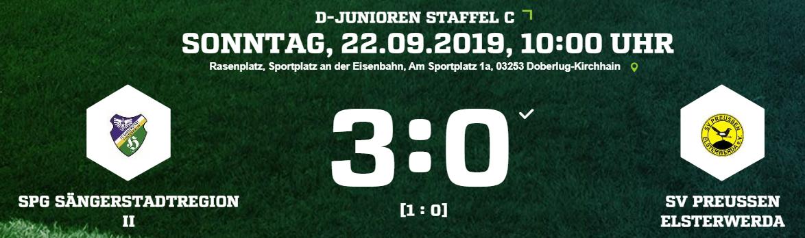 Die Ergebnisse der SpG Sängerstadtregion 21.09. – 22.09.2019