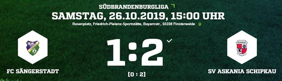 Die Ergebnisse des FC Sängerstadt vom 26.09.19
