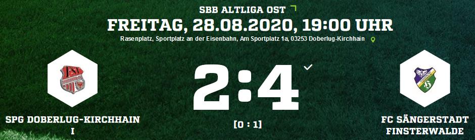 Die Ergebnisse des FC Sängerstadt vom Wochenende