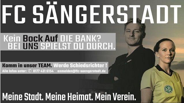 Werde Schiedsrichter beim FC Sängerstadt