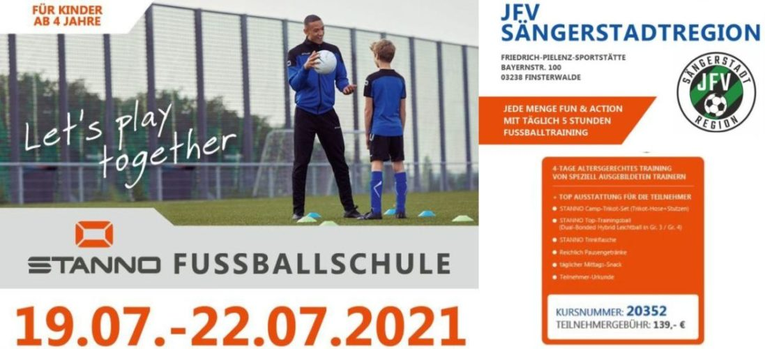Soccer-Camp 2021 mit STANNO-Fussballschule