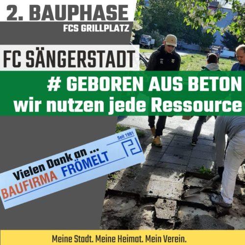 2. Bauphase – FCS Grillplatz